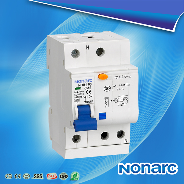 NOB1 Residual Current Circuit Breaker with over current protection