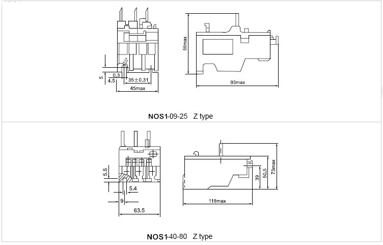 NOS1 Series Thermal Relay PDF