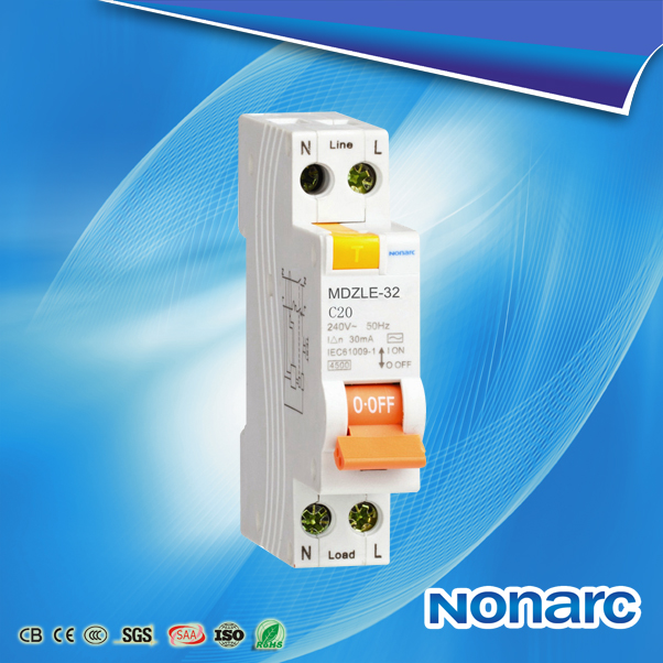 MDZLE 1P+N Circuit Breaker with SAA